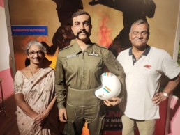 Proud Moment today...Wing Commander Abhinandan Varthaman Parents visited our Trivandrum Museum today..Air Marshal S Varthaman and Shoba Varthaman with their Real Hero Son statue..